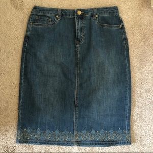 Christopher & Banks Skirts - Christopher & Banks Jean Denim Skirt